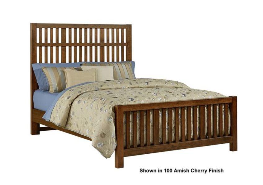 Craftsman Slat Bed with Slat Footboard
