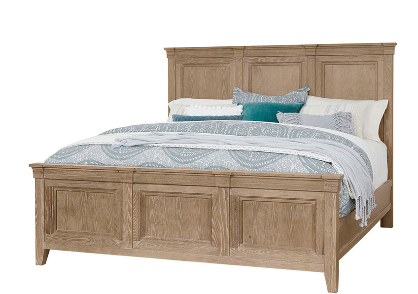 MANSION BED WITH MANSION FOOTBOARD IN DEEP SAND