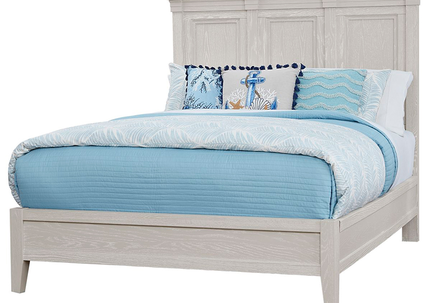 MANSION BED WITH LOW PROFILE FOOTBOARD IN OYSTER GREY