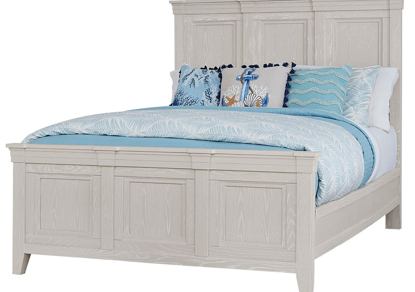 MANSION BED WITH MANSION FOOTBOARD IN OYSTER GREY