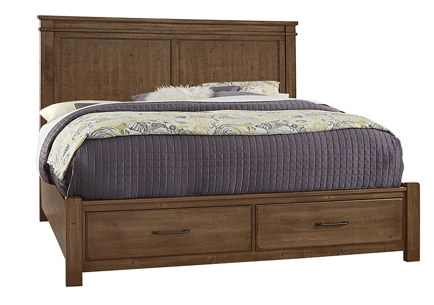 Mansion Bed with footboard storage