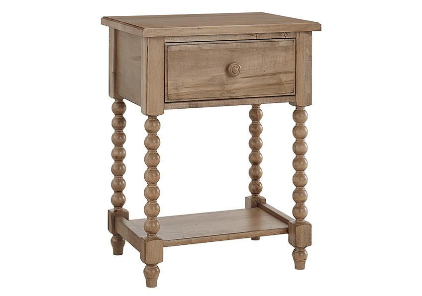 Leg Night Table - 1 Drawer
