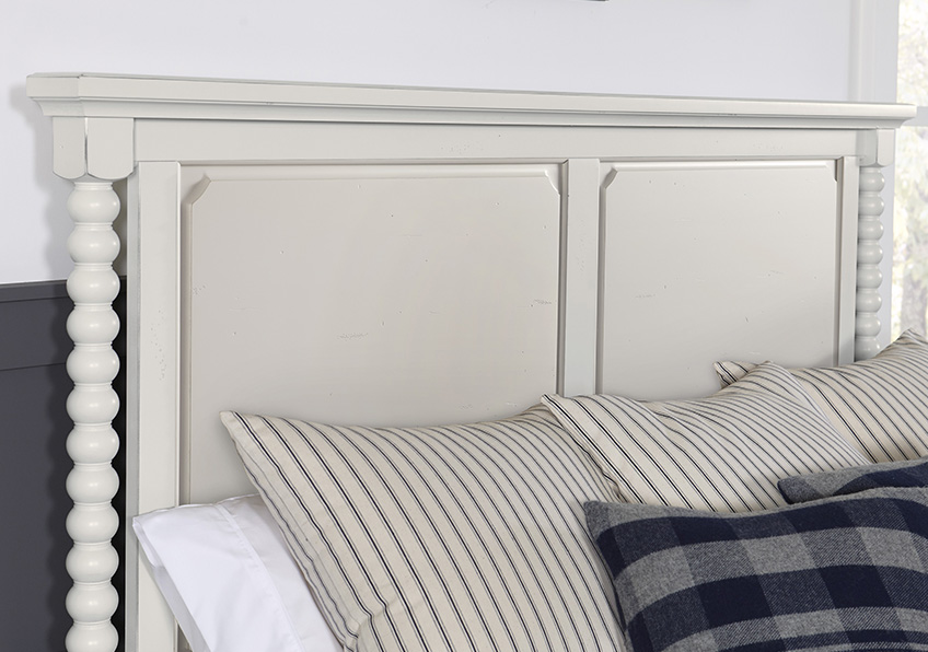 Panel Bobbin Bed with Low Profile Footboard