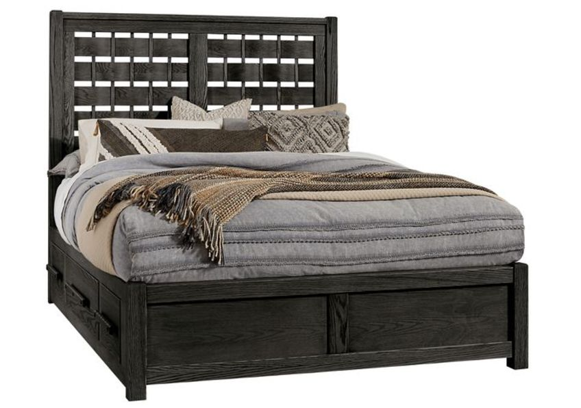 Queen - Horizontal Weave Bed with 1 Side Storage