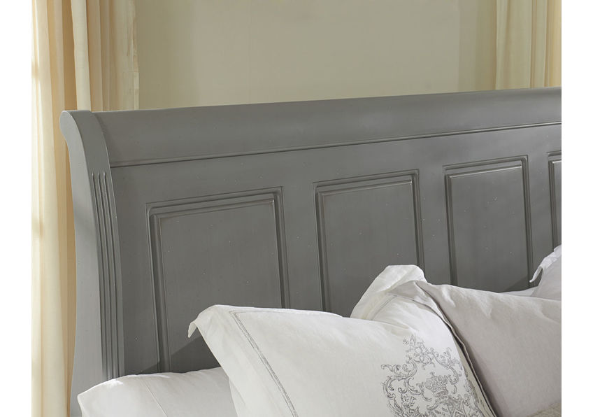 Sleigh Bed with Footboard Storage Queen & King