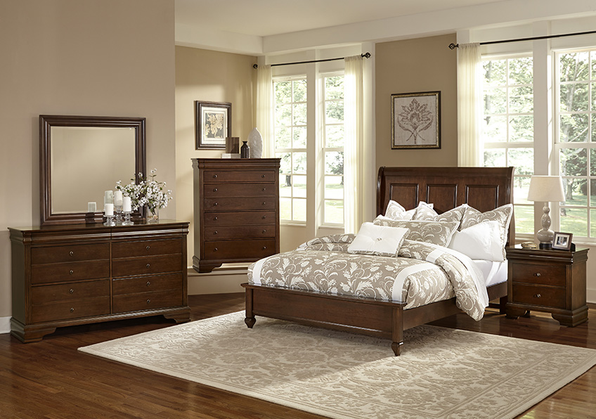 Sleigh Bed with Low Profile Footboard Twin & Full