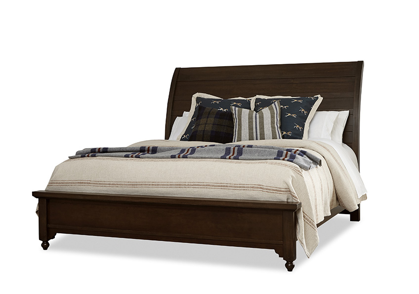 """Rogers"" Sleigh Bed with low Profile Footboard"