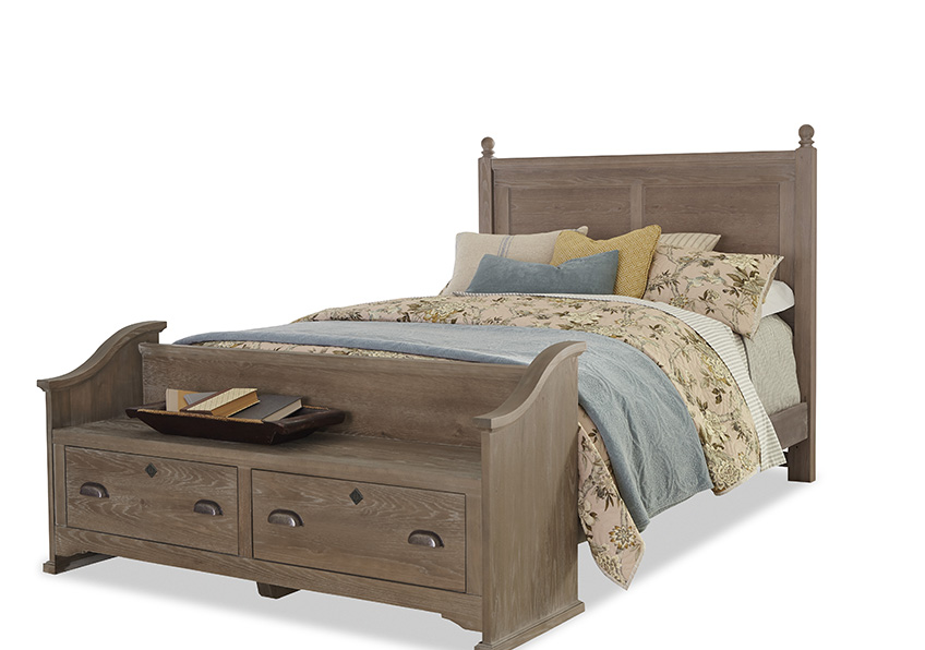 """Gilchrist"" Poster Bed with Elder's Bench Footboard"
