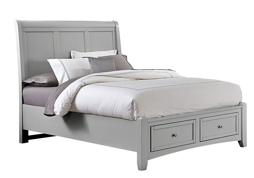 Sleigh Bed with Storage Footboard Queen & King