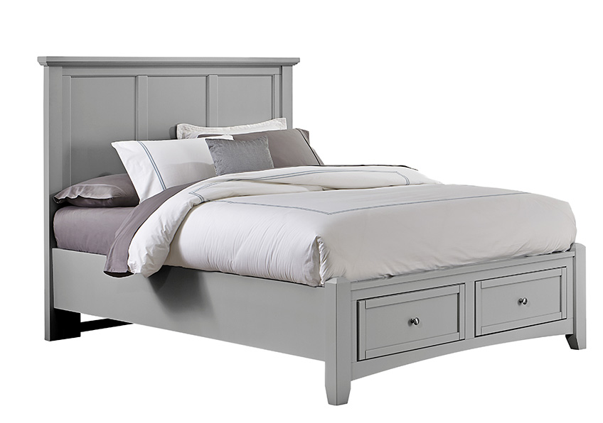 Mansion Bed with Storage Footboard Queen & King